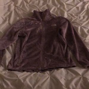 Woman's M North face polyester and fleece zip up.